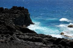 lanzarote beach - stock photo