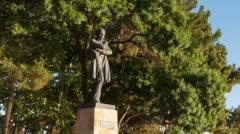 Lermontov monument hyperlapse Stock Footage