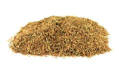 dry rubbed natural remedy thyme. - stock photo