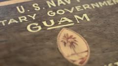 Historic Guam ledger Stock Footage