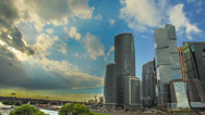 Stock Video Footage of The Moscow sky-scrapers and clouds timelapse,RAW VIDEO:6K,4K & 1080p resolutions