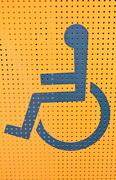 handicap access on yellow background - stock illustration