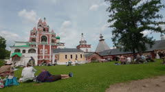 Russian Orthodox convent Stock Footage
