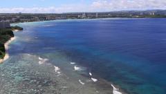 Tumon Bay Guam Aerial Stock Footage