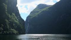 Geirangerfjord Norway Stock Footage
