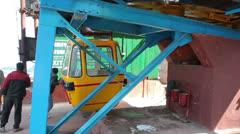 Cableway Darjeeling India Stock Footage