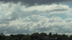 Time-Lapse Clouds Over Hill - stock footage