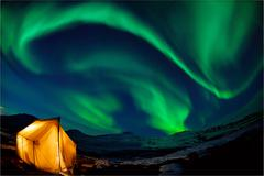northern lights - stock photo