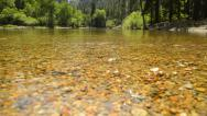 Yosemite LM65 Dolly Circular L Merced River Cathedral Beach Stock Footage