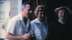 Pretty Blonde Lady Smiling At Camera-1962 Vintage 8mm film - stock footage