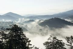 Smokey Mountains in the Morning Stock Photos