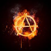 Fire Swirl Anarchy - stock illustration