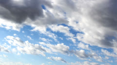 timelapse cloudscape fast blue,time lapse clouds - stock footage