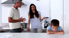 Parent quarrelling about their son Stock Footage