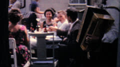 Accordion Player At Summer Picnic-1962 Vintage 8mm film Stock Footage