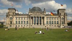Reichstsag building, Berlin - stock footage