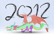 2012 year of the dragon . Stock Illustration