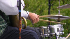 Brass band drummer - stock footage