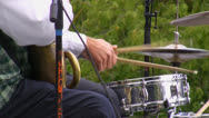 Stock Video Footage of Brass band drummer