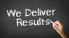 Stock Illustration of We deliver results chalk illustration
