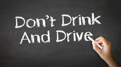 Don't drink and drive chalk illustration Stock Illustration