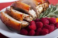 Pork and Vegetables Stock Photos