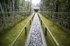 Path to the koto-in, the sub-temple of daitoku-ji Stock Photos