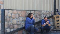 Slackers On A Smoke Break Stock Footage
