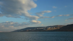 Time Lapse Sea of Galilee Looking At Tiberias Stock Footage