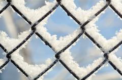 Freezing patterns, winter Stock Photos