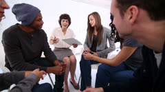 Woman therapist taking note Stock Footage