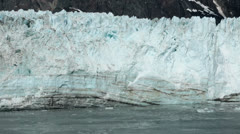 Close view in Glacier Bay National Park icebergs in ocean HD 7298 Stock Footage