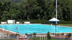 Swimming Pools, Olympic Size, Swimmers, Sports Stock Footage