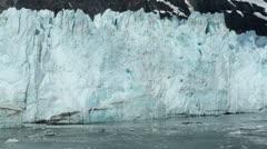 Close view of Margerie Glacier icebergs Glacier Bay Alaska HD 7299 Stock Footage
