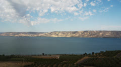 Time Lapse Sea of Galilee From Above 2 Stock Footage