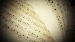 Music Book 01 Stock Footage