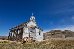 Stock Photo of badlands church