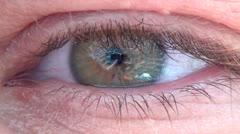 Human Eye, Eyeball, Vision, Body Parts Stock Footage