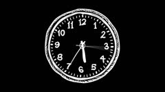 5 day-24 clock Stock Footage