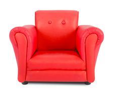 Red armchair Stock Photos