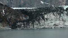 Dirty Margerie Glacier in Glacier Bay Alaska HD 7296 Stock Footage