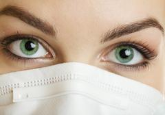nurse green eyes - stock photo