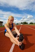 teen athlete - stock photo