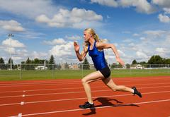 running athlete - stock photo