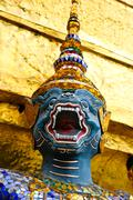 Giant in wat phra kaeo, the royal grand palace Stock Photos