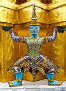 Giant in wat phra kaeo, the royal grand palace - bangkok, thailand. Stock Photos