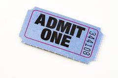 admit ticket - stock photo