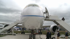 Boeing 787 Dreamliner Close up Stock Footage