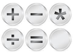 mathematics sign circle icon - stock illustration