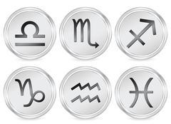 zodiac sign circle icon 2 - stock illustration